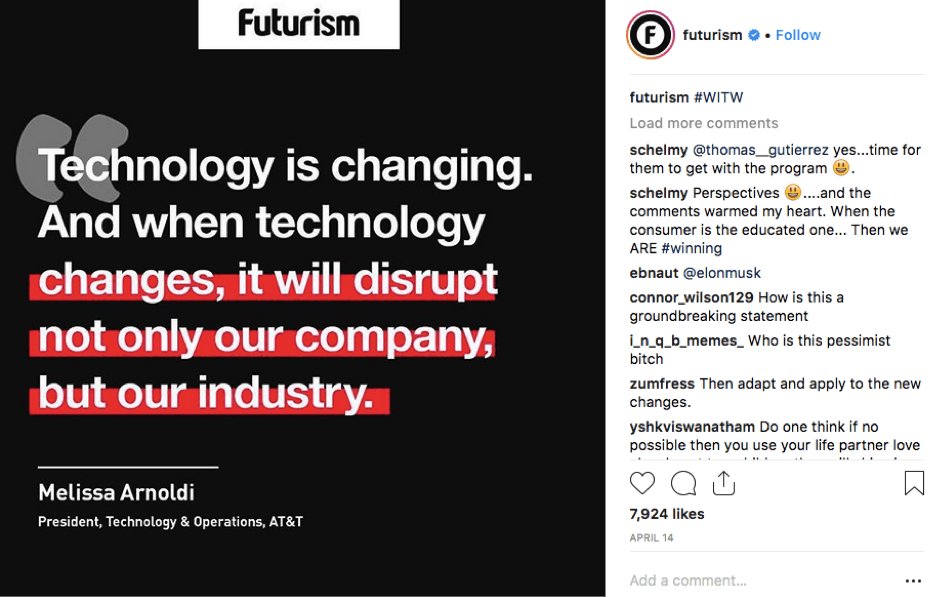 Futurism Instagram Post