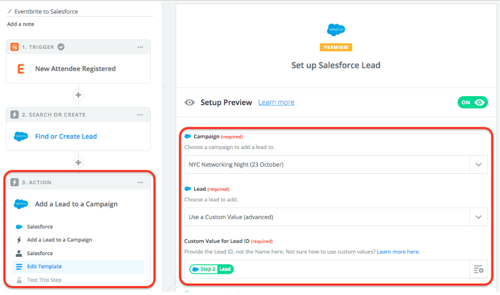 Set up Salesforce Lead Zapier