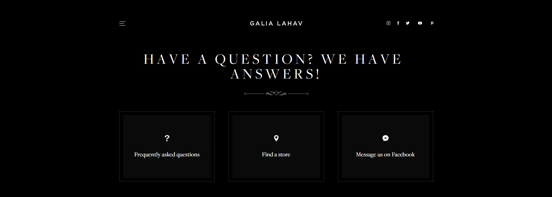galis lahav top of the contact us page