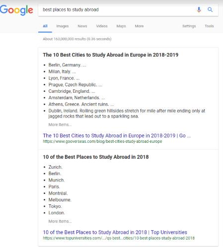 Google Tests Double Featured Snippets