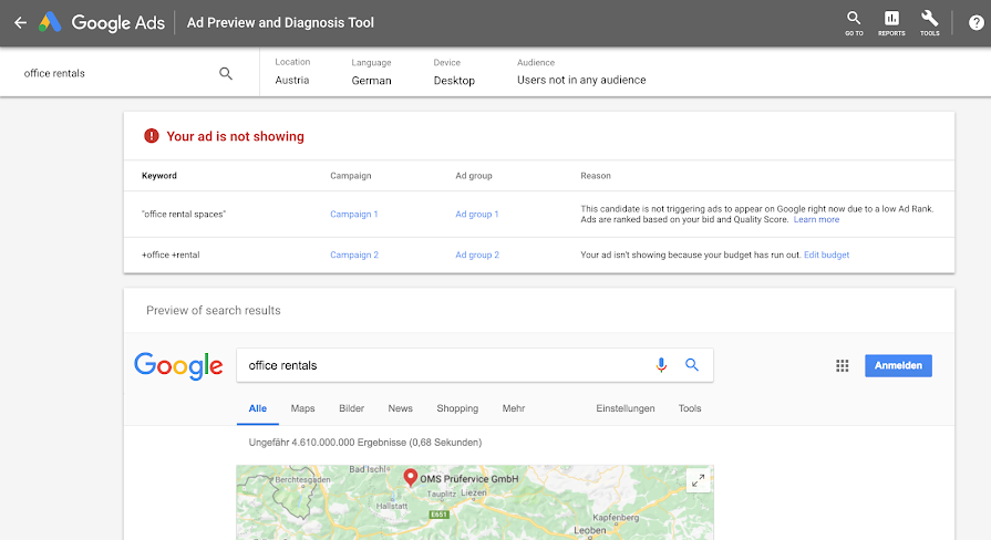 Google Ads Brings New Features to the Ad Preview and Diagnosis Tool