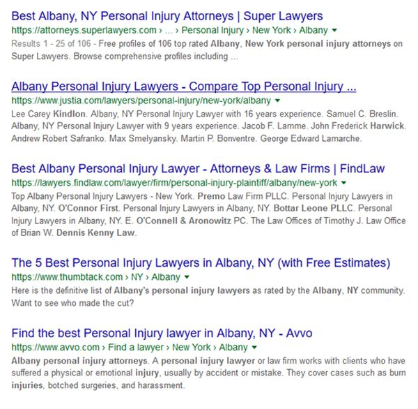sample serps