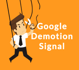 Google Demotion Signal