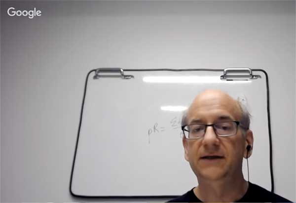 Screenshot of Google's John Mueller in a Webmaster Hangout