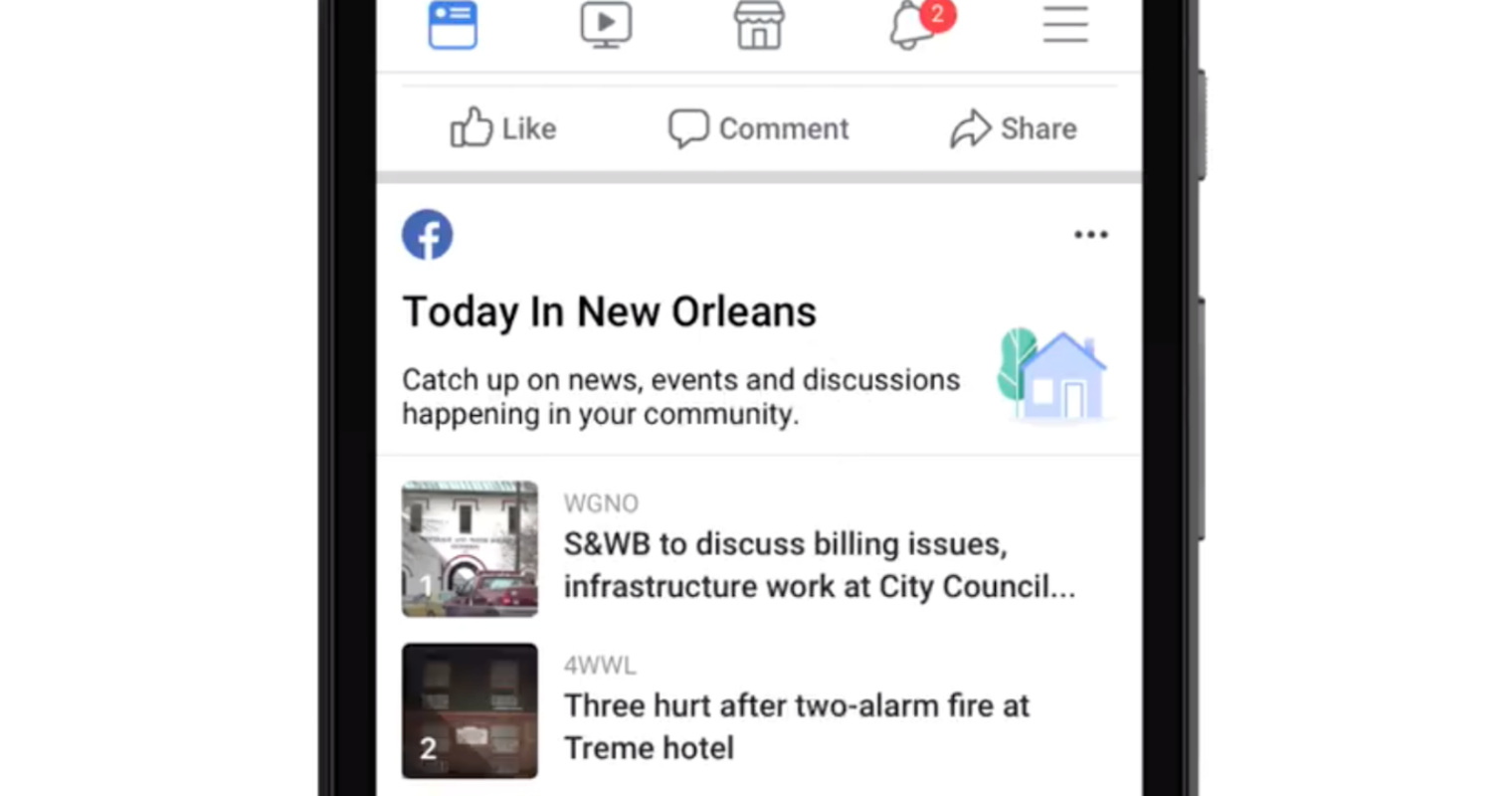 Facebook Makes it Easier to Find Local News and Information