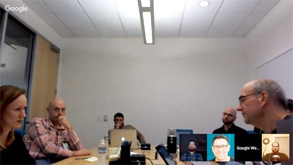 Screenshot of a Google Webmaster Hangout with John Mueller