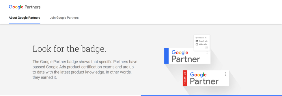 sign up for Google Partners