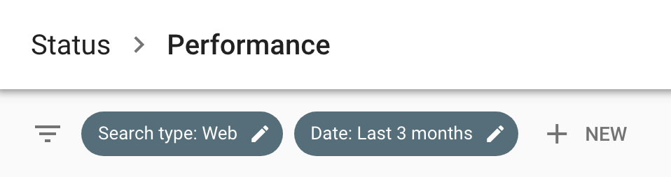 Google Search Console – Status - Performance