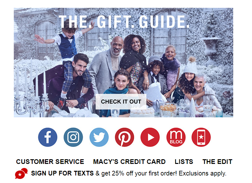 Macy's christmas mailout