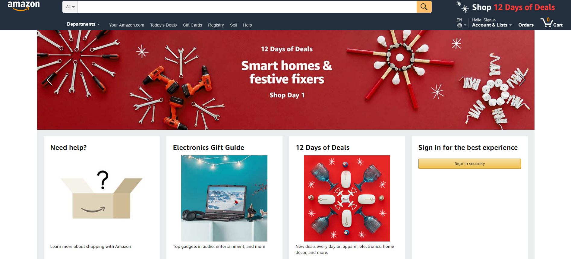 amazon christmas website