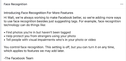 Facebook's Facial Recognition Feature 2