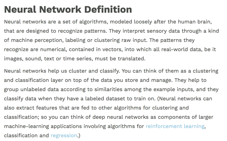 Neural Network Definition