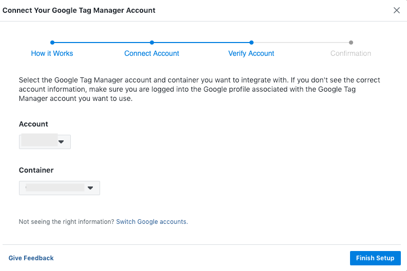 Connect Tag Manager and Facebook