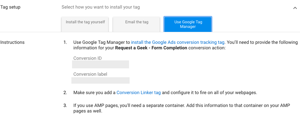 Google Ads Conversion ID