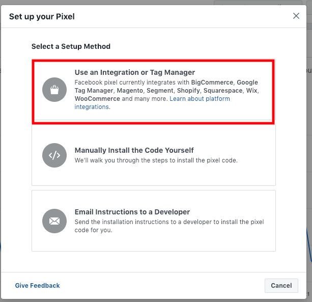 Use Tag Manager Integration