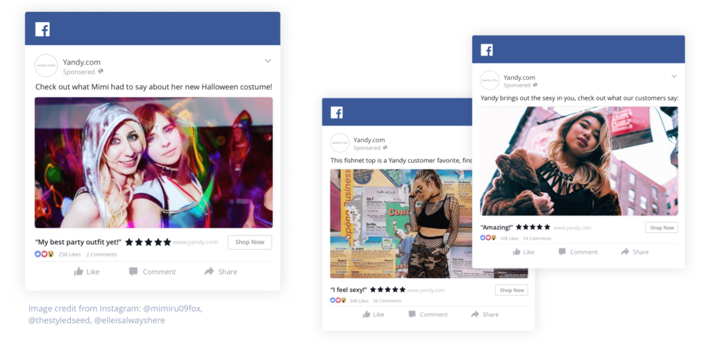 Yandy - Facebook Dynamic Product Ad campaign