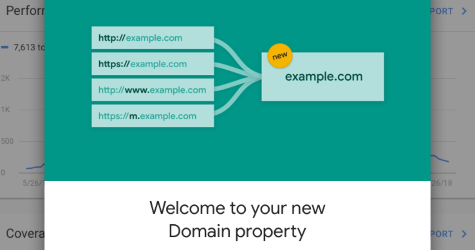 Google Search Console Makes it Easy to See All Data for a Whole Domain
