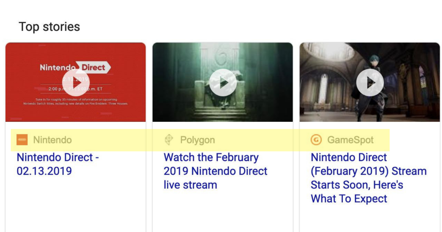 Google is Testing Favicons in the Top Stories Carousel