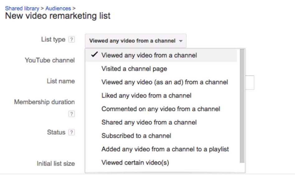 youtube remarketing