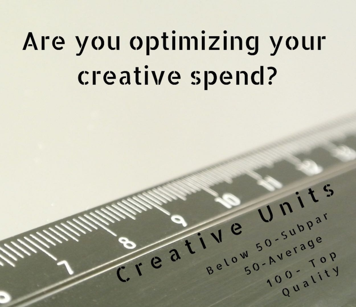 are you optimizing your creative spend