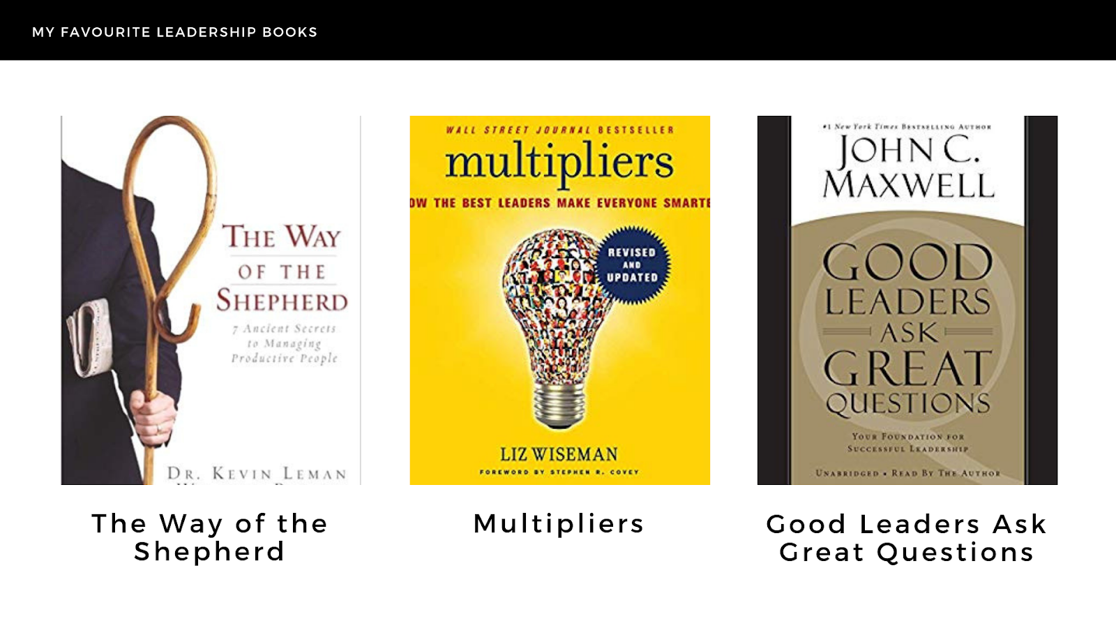 My Favorite Leadership Books