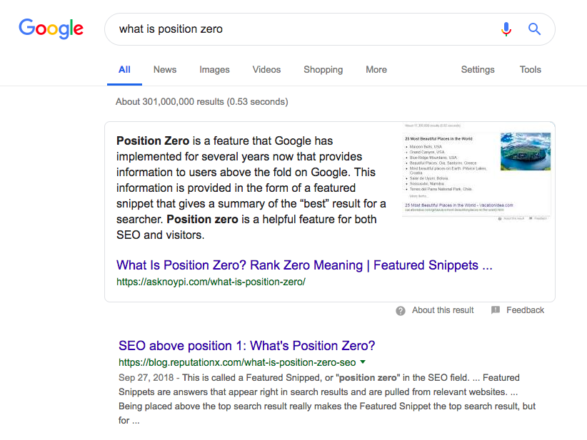 What is Position Zero in Google Search?
