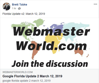 Google Update Florida 2 - It & # 8217; sa Big One