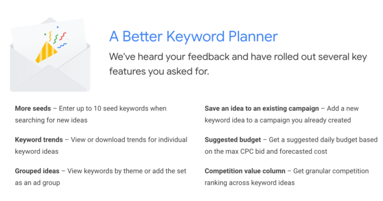 Google Ads Keyword Planner Now Allows Up to 10 Seed Keywords