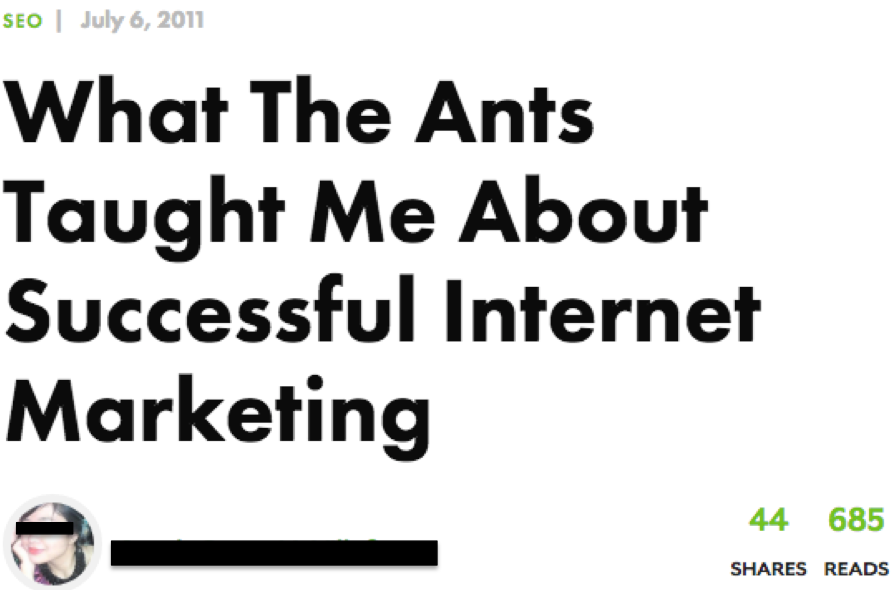 What the Ants Taught Me About Successful Internet Marketing SEJ article