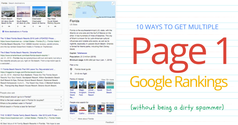 10 Ways to Get Multiple Organic Page 1 Google Rankings