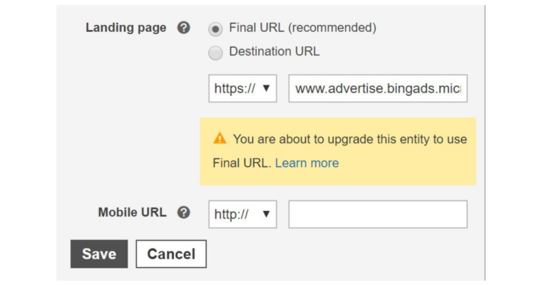 Bing Ads Will No Longer Serve Entities With Destination URLs By the End of 2019