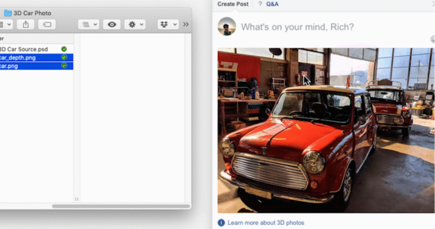 Facebook Lets Users Share 3D Photos in Stories