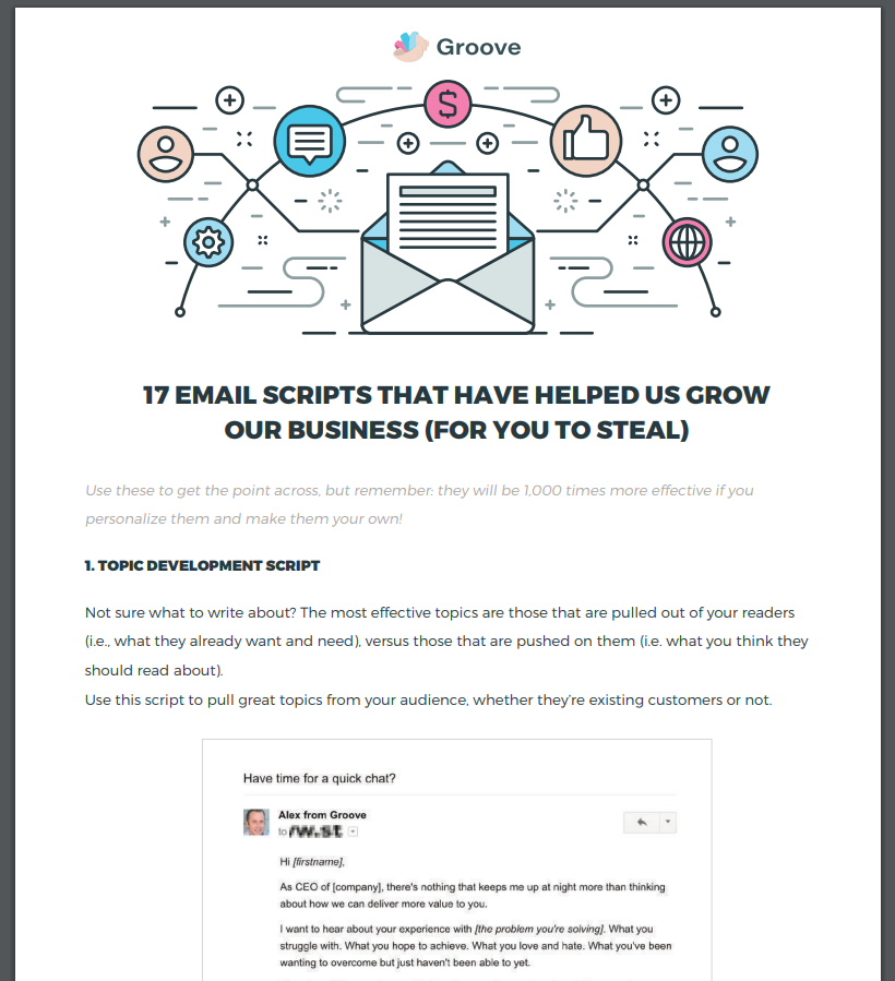 email scripts to grow business