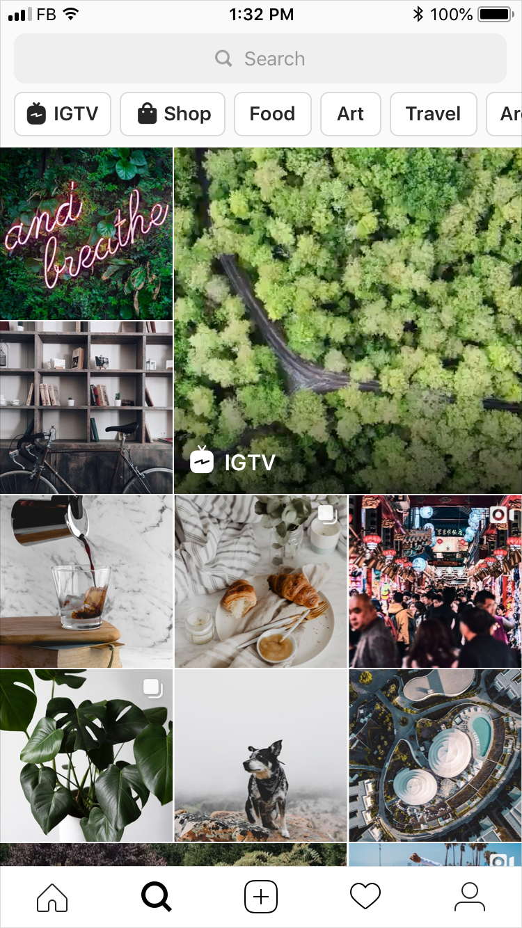 Instagram's Explore Page Now Includes Stories