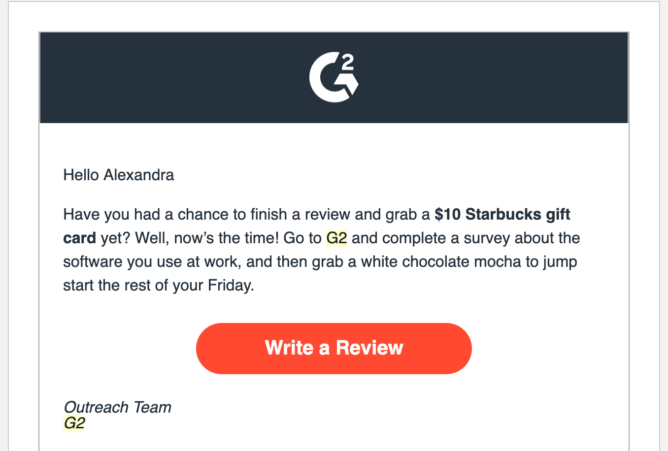 G2 Crowd Email Outreach
