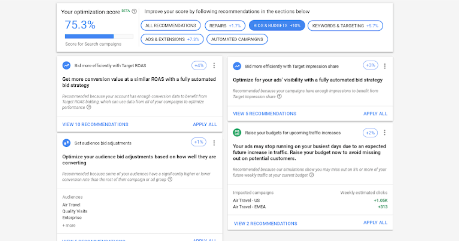 Google Ads Offers New Recommendations to Improve Optimization Score - Search Engine Journal