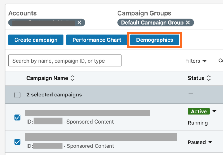 LinkedIn Ads Demographic Information