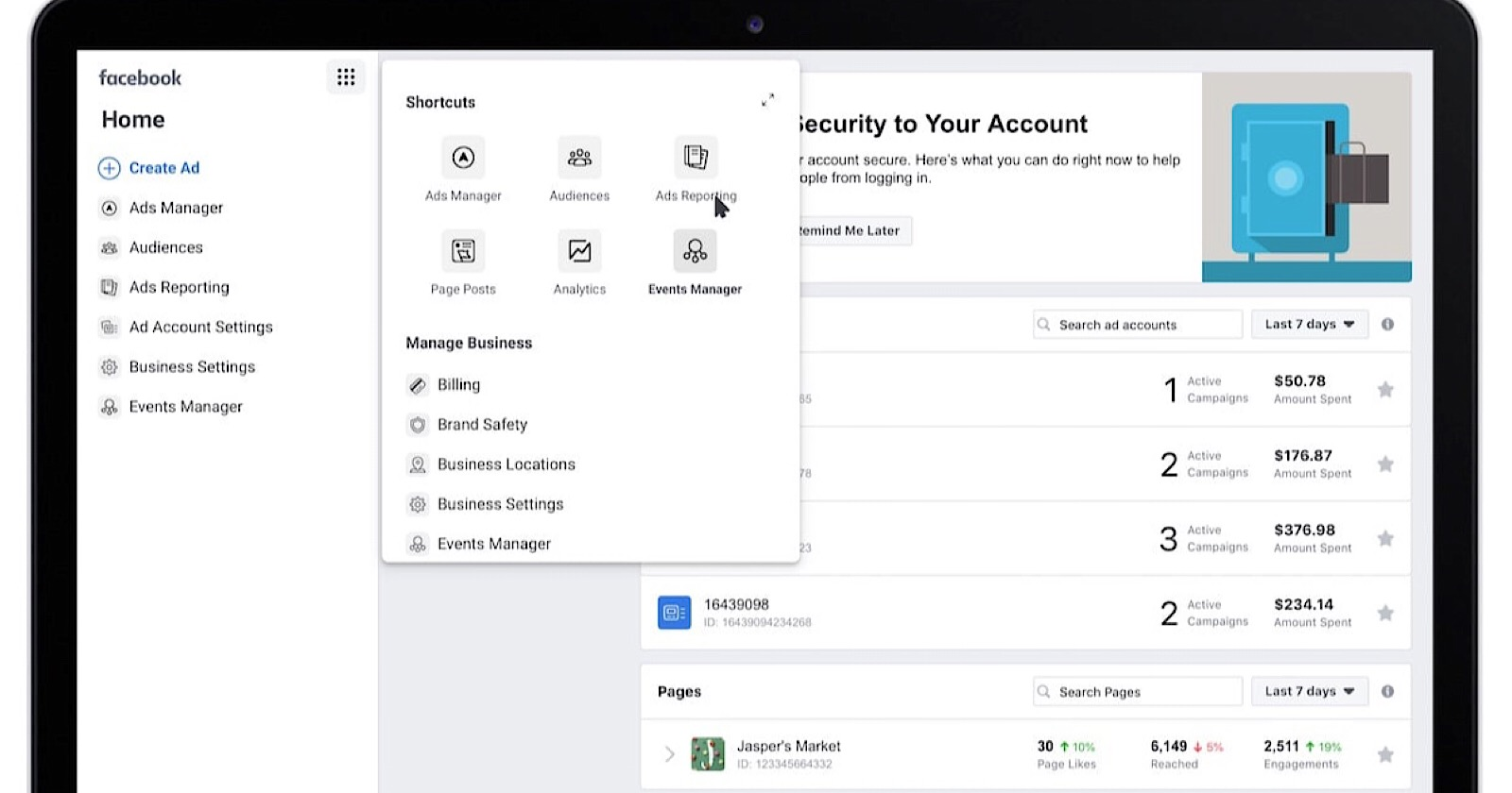 Facebook Updates Business Manager With Improved Design Navigation Search Engine Journal