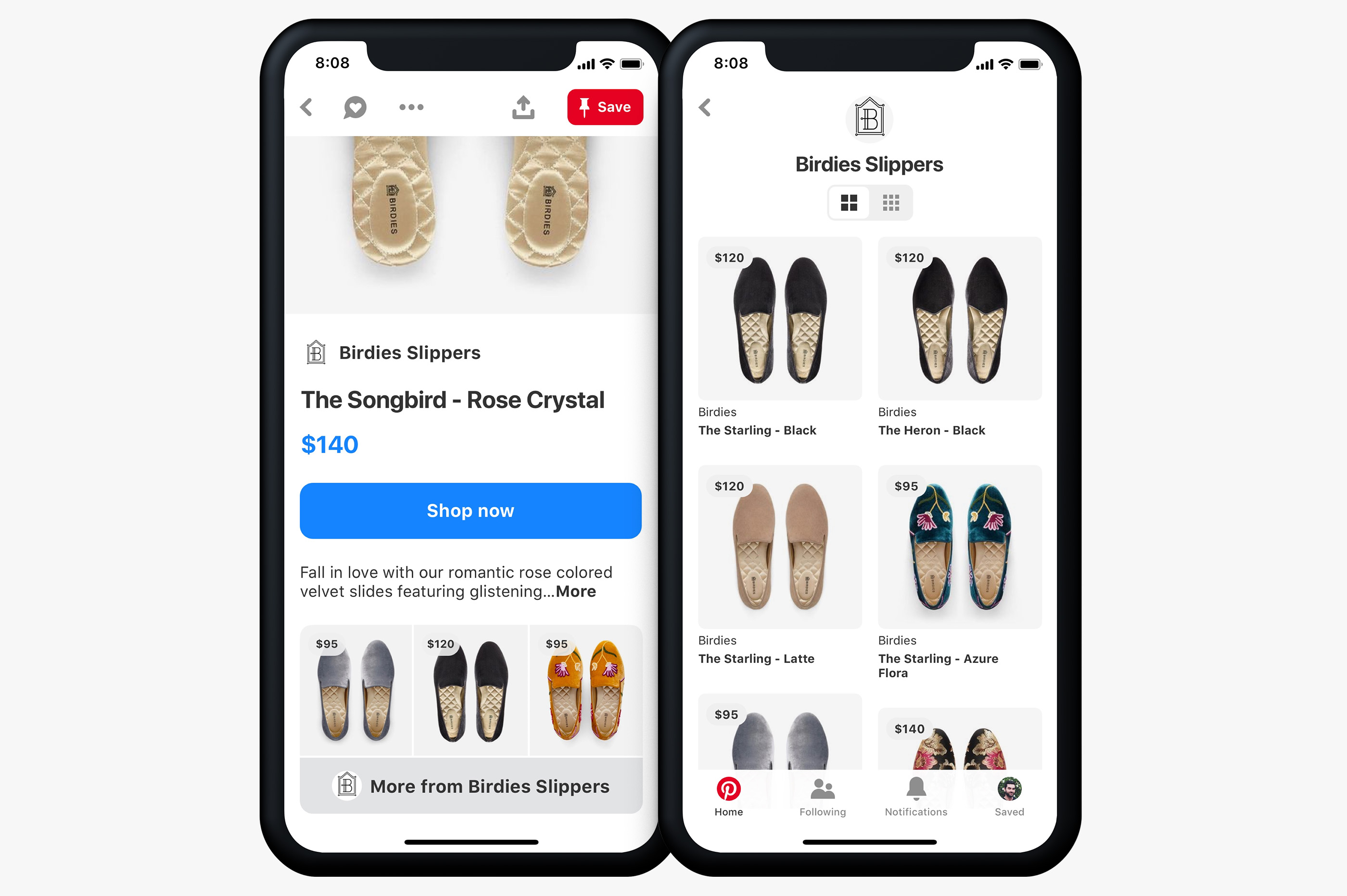 Pinterest Adds a Shopping Section to its Home Feed