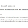 Google to Site Owners: Remove Noindex Directives from Robots.txt