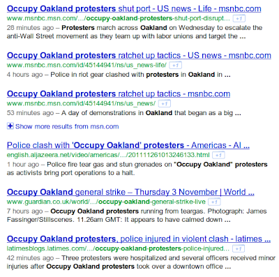 Occupy Oakland Protest