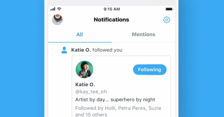 Twitter to Show the Profiles of New Followers in the Notifications Tab