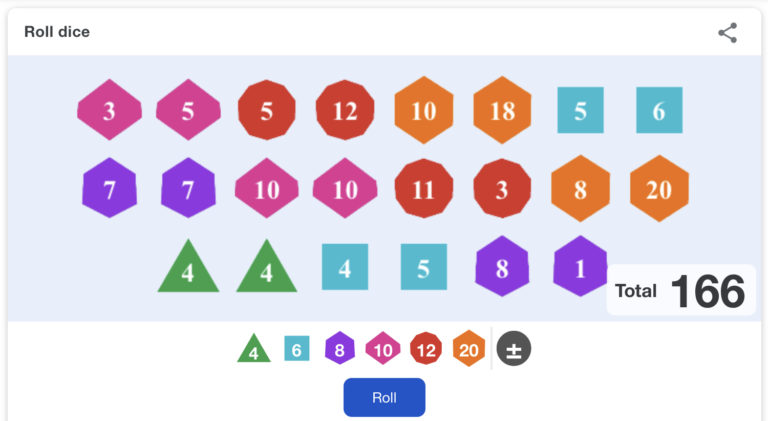 New Google Easter Eggs: Multi-Sided Dice