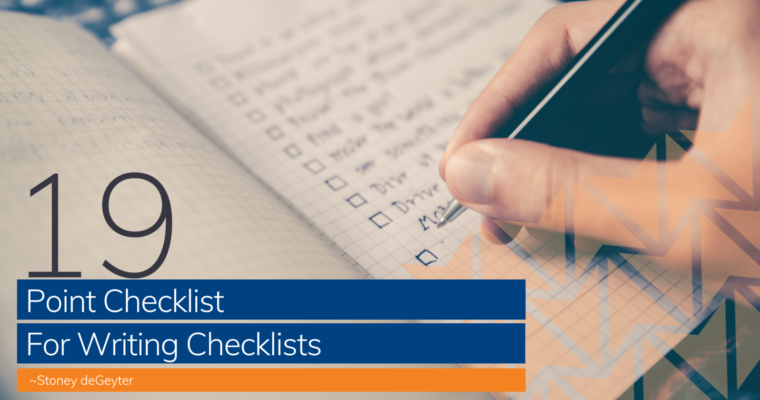 The Complete 19-Point Checklist for Writing Checklists