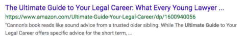 "Screenshot of ""Ultimate Guide to Your Legal Career"""