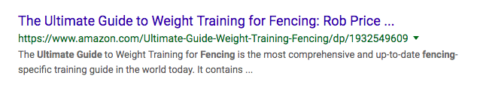 "Screenshot ""Guide to Weight Training"" post"