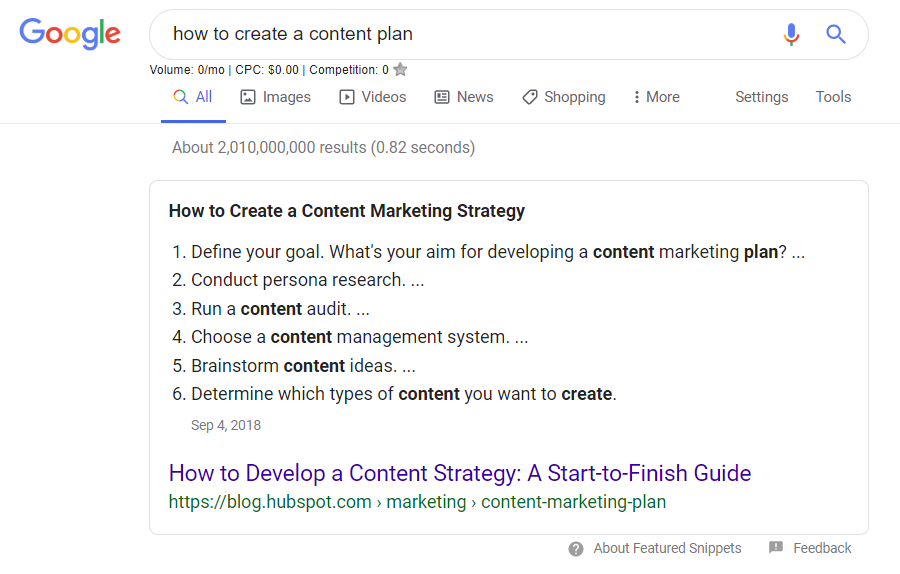 How to create a content plan?