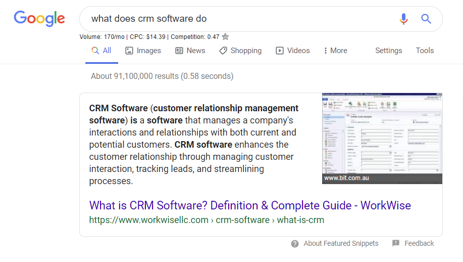 What does CRM software do?