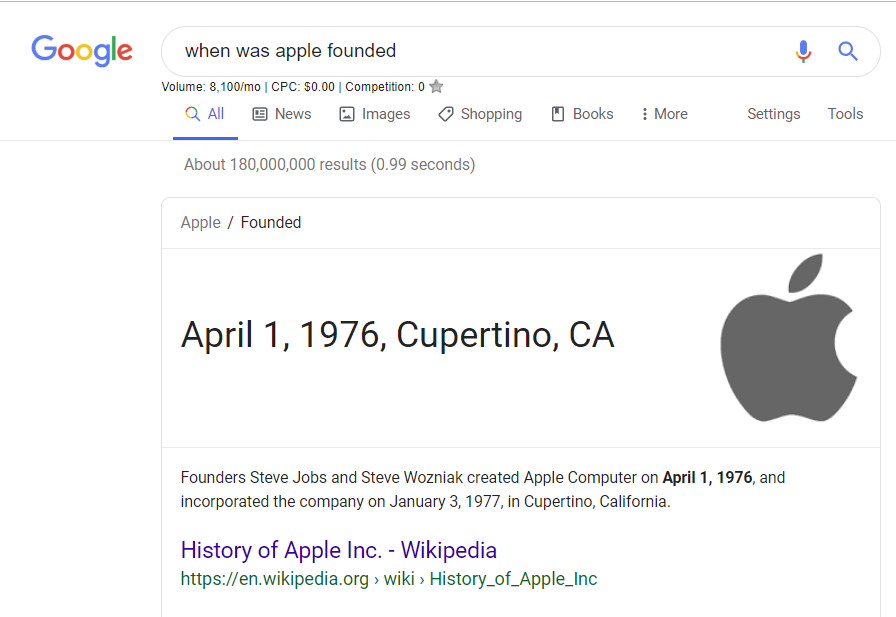 When was Apple Founded