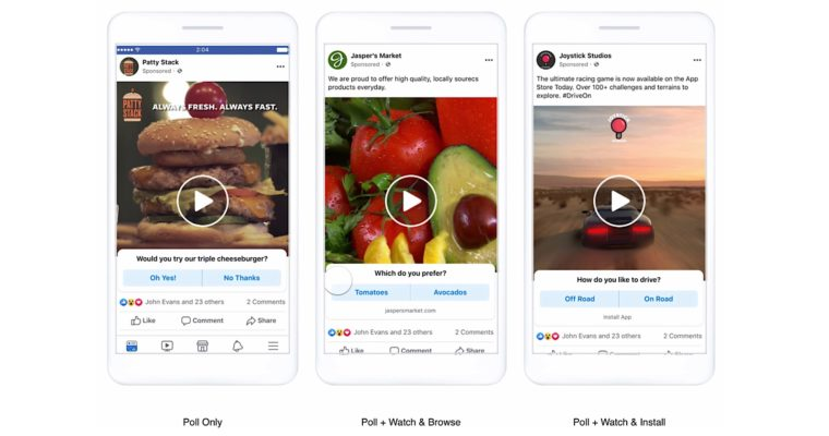 Facebook Rolls Out New Types of Interactive Mobile Ads